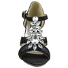 Girls T-Strap Jewel High Heel Dress Sandals Black