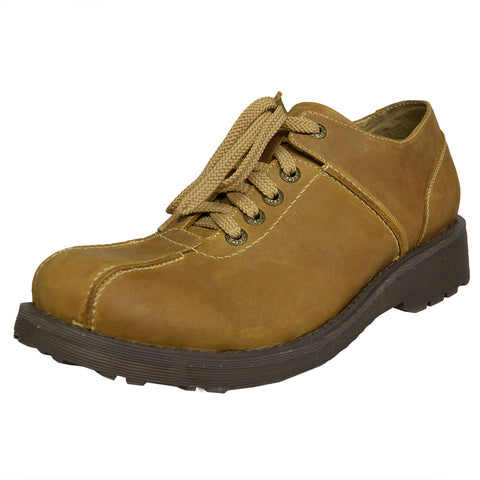 Mens Lace Up Casual Shoes Tan