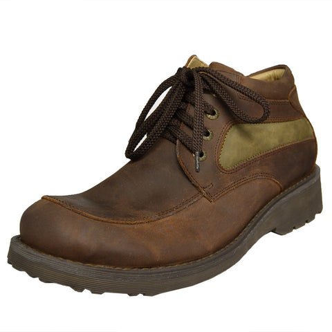 Mens Rugged Lace Up Shoes Brown
