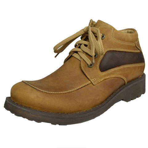 Mens Rugged Lace Up Shoes Tan