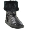 Toddler & Youth Sequins Mid Calf Boot