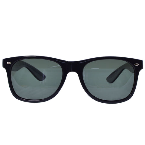 Unisex Polarized Wayfarer Squared Sunglasses Black