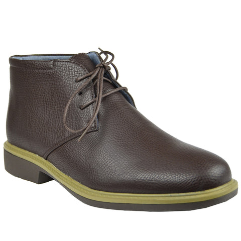 Mens Lace Up Chukka Boots Brown