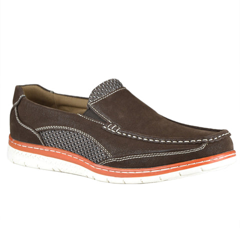 Mens Slip On Loafers Brown
