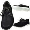 Mens Casual Shoes Two Tone Stitched Lace Up Derby black
