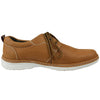 Mens Casual Shoes Two Tone Stitched Lace Up Derby Tan