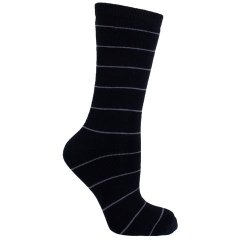 Men's Socks Striped Athletic Sport Comfortable Performance Mid Calf Crew Socks Black