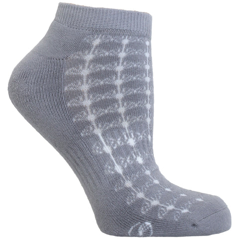 Fan Pattern No Show Performance Sock - 3 Pack