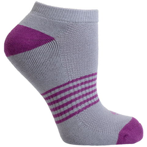 Striped No Show Performance Sock - 3 Pack