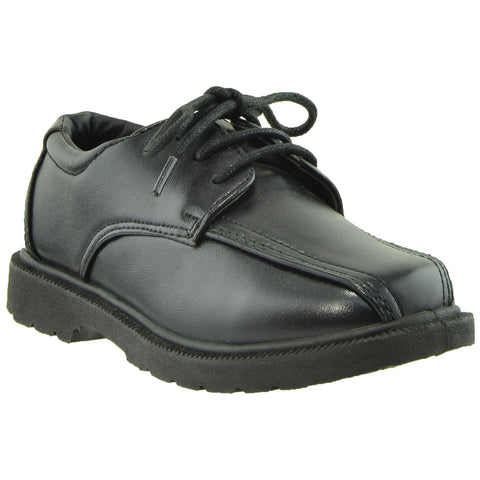 Boys Dress Shoes Lace Up Square Toe Closed Toe Shoes Black