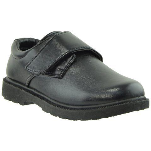 Boys Dress Shoes Monk Strap Closed Toe Shoes Black