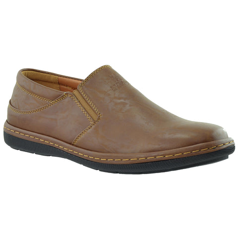 Mens Slip On Casual Shoes Dark Brown