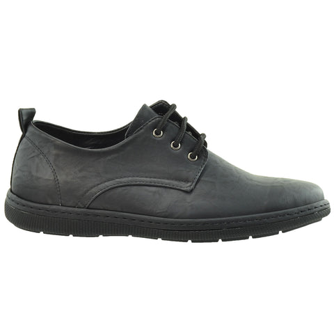Mens Lace Up Derby Black
