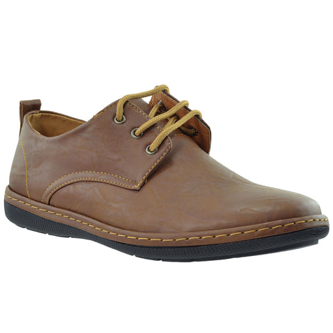 Mens Lace Up Derby Dark Brown