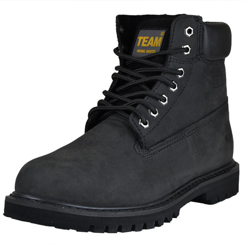 Mens Steel Toe Work Boots Black