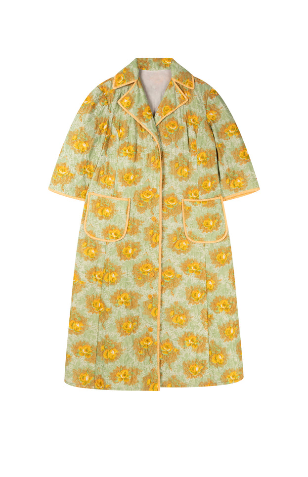 All Things Mochi - Diana Robe - vintage floral robe/jacket (front)