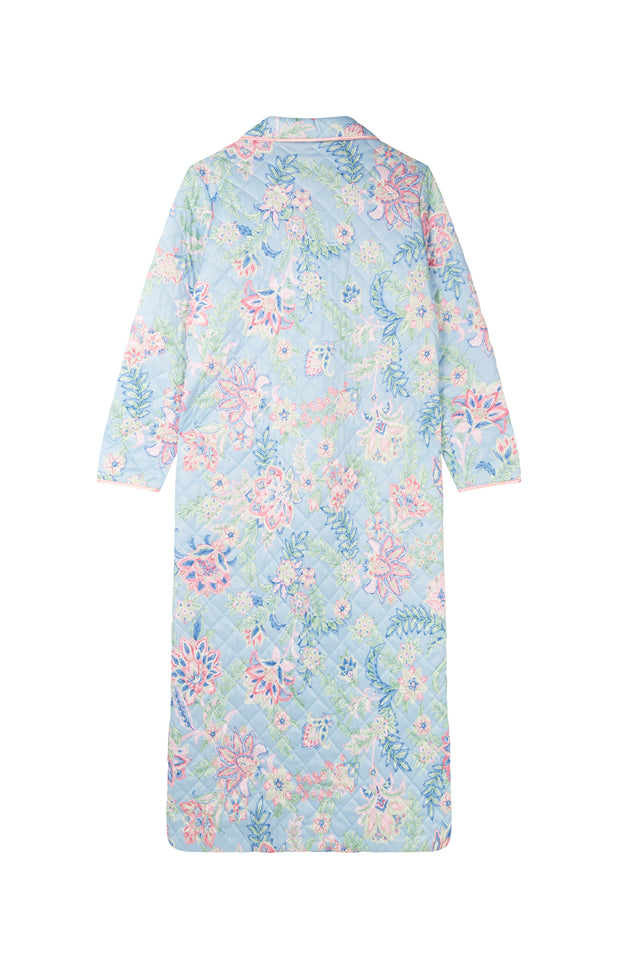 Load image into Gallery viewer, All Things Mochi - Ann Robe - vintage pastel jacket with flowers (back)