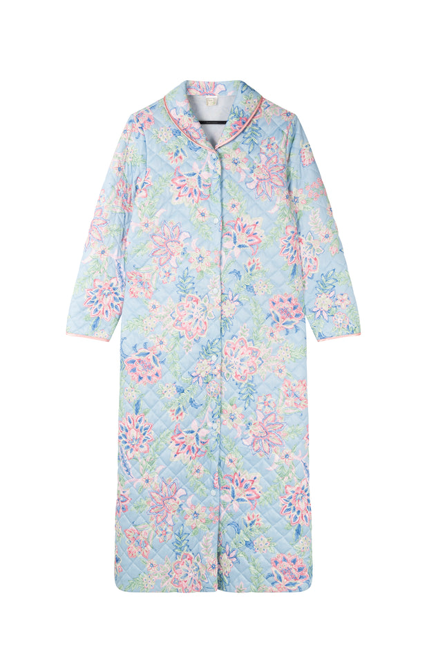 Load image into Gallery viewer, All Things Mochi - Ann Robe - vintage pastel jacket with flowers (front)