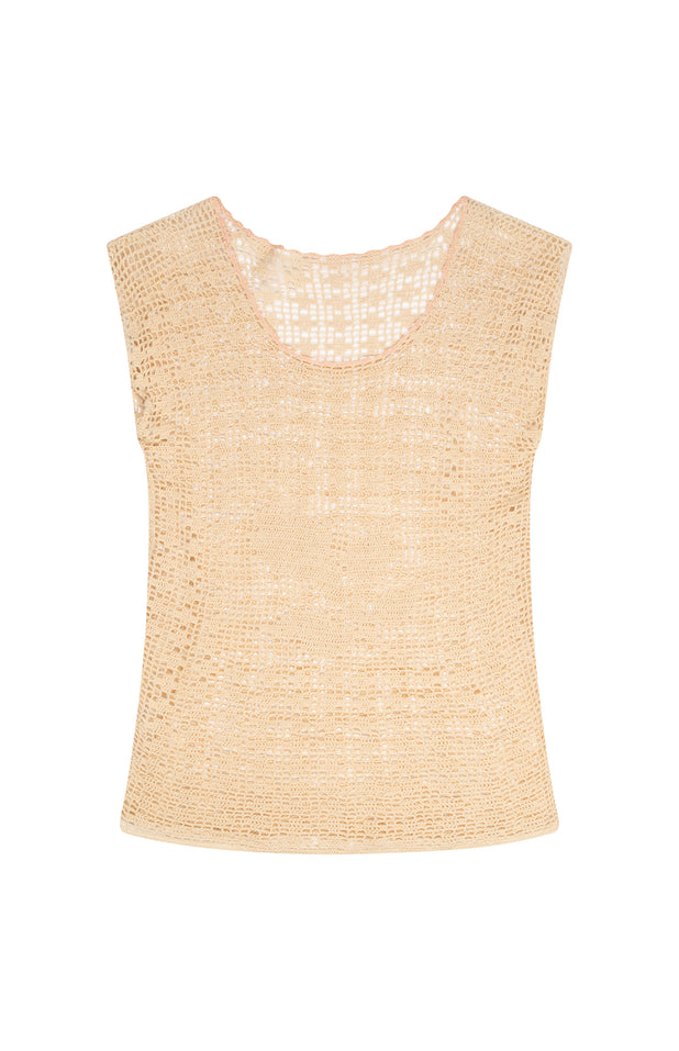 Load image into Gallery viewer, All Things Mochi - Cathy Top - beige vintage knit top