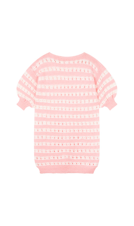 All Things Mochi - Fay Top - vintage pink knitted top