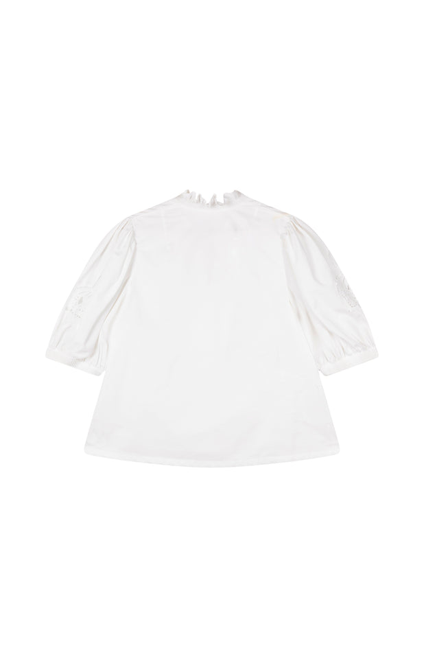 Load image into Gallery viewer, All Things Mochi - Lila Blouse - white vintage blouse (back)