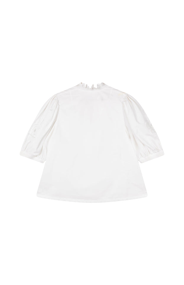 All Things Mochi - Lila Blouse - white vintage blouse (back)