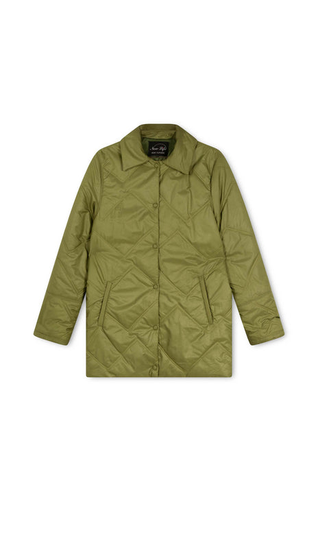 Renee Jacket - All Things Mochi - green oversized jacket (front)