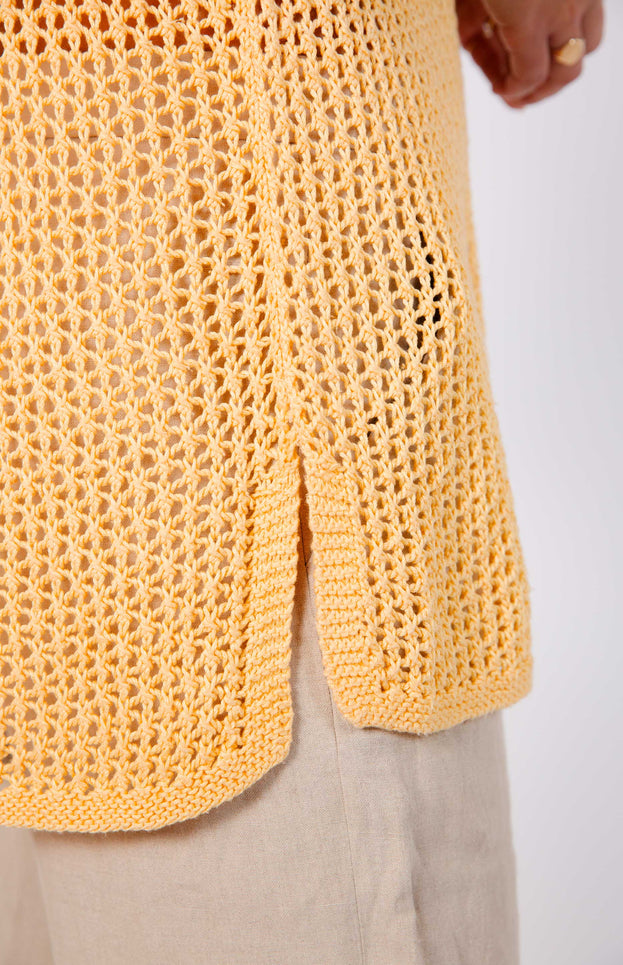 All Things Mochi - Tara Top - vintage yellow knit top