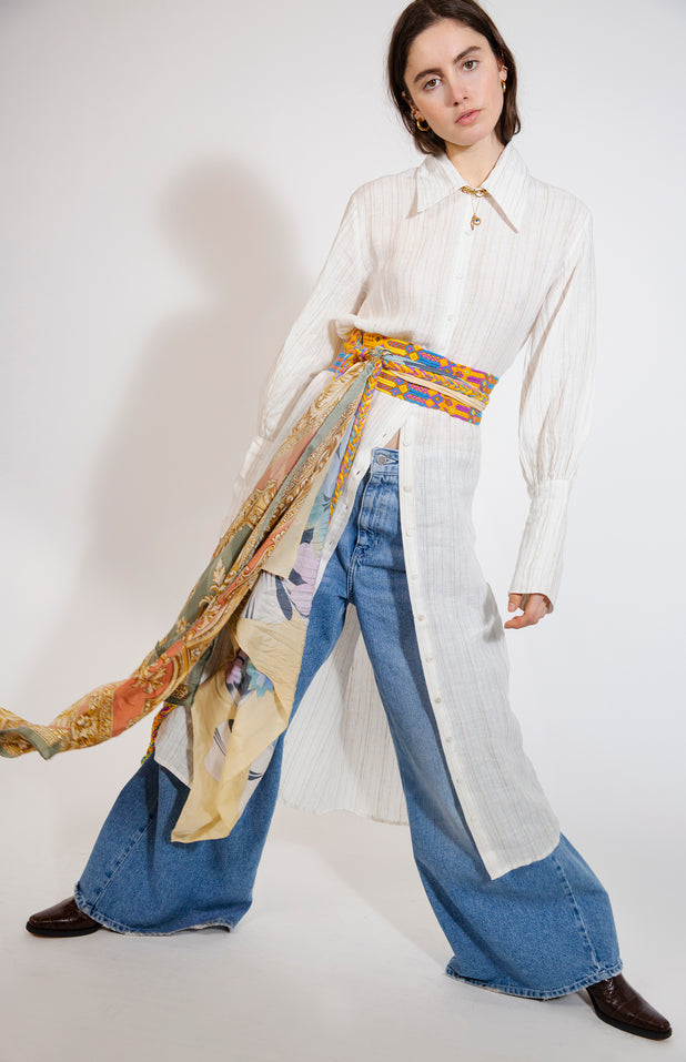 Load image into Gallery viewer, Jenny Dress - All Things Mochi - linen dress with long sleeves