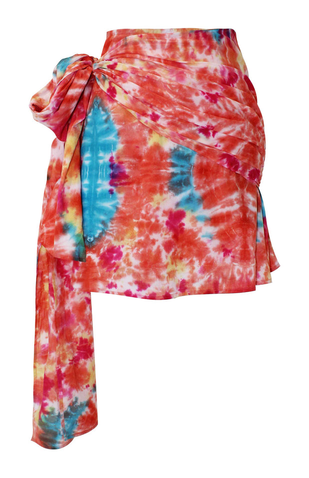 Load image into Gallery viewer, All Things Mochi - Mabel Skirt - tie dye print mini-skirt with wrap detail
