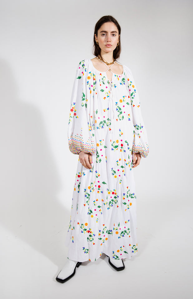 Load image into Gallery viewer, Nimi Dress - All Things Mochi - white floral dress