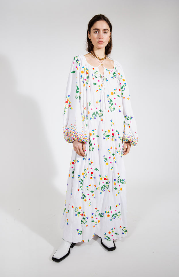 Nimi Dress - All Things Mochi - white floral dress
