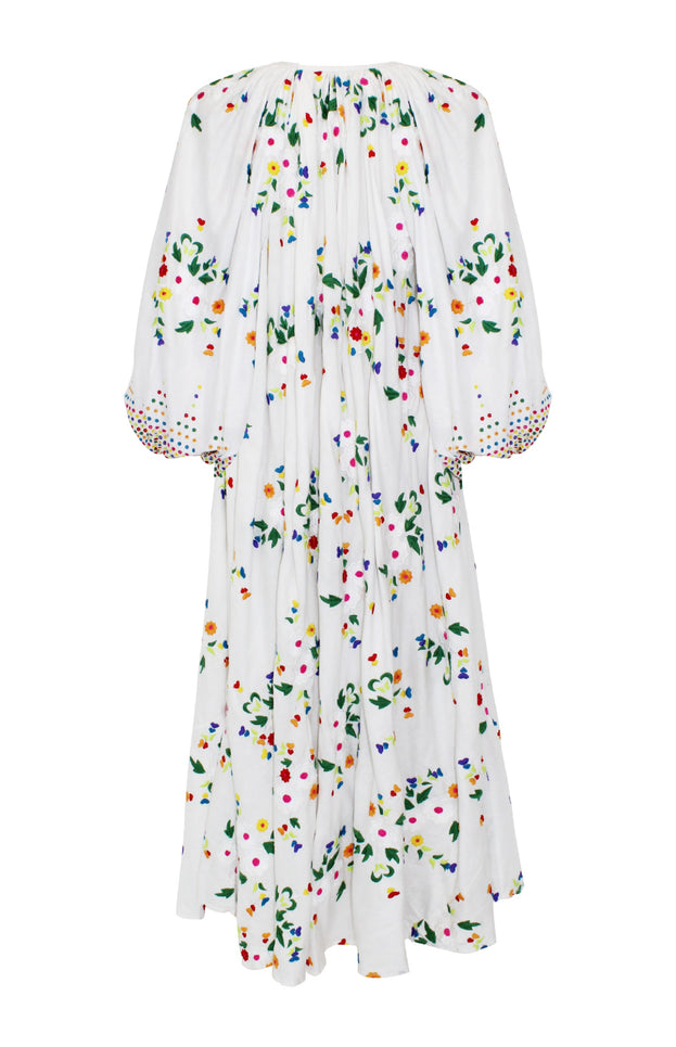 Nimi Dress - All Things Mochi - white floral dress (back)