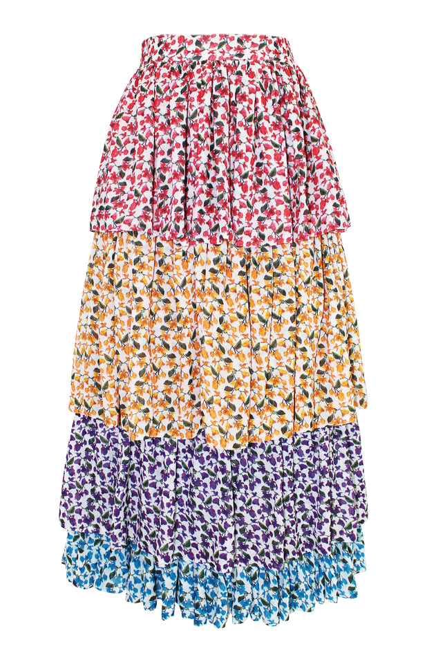 Load image into Gallery viewer, Chila Skirt - Mochi - Flower print skirt (back)