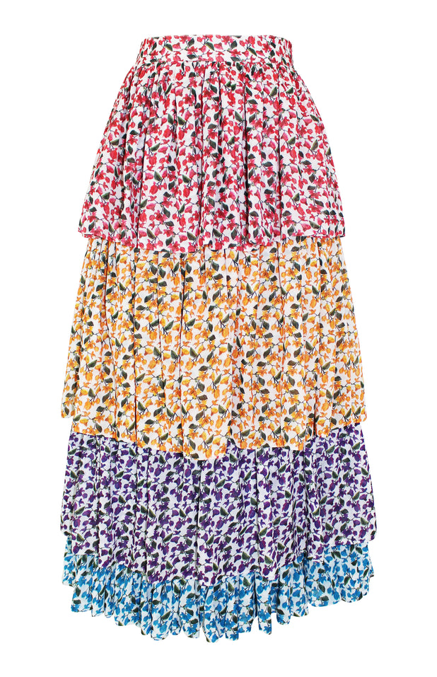 Load image into Gallery viewer, Chila Skirt - Mochi - Flower print skirt (front)
