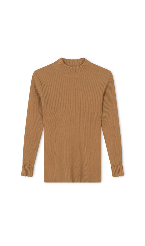 Floor Turtleneck - Mochi - Vintage Camel Sweater