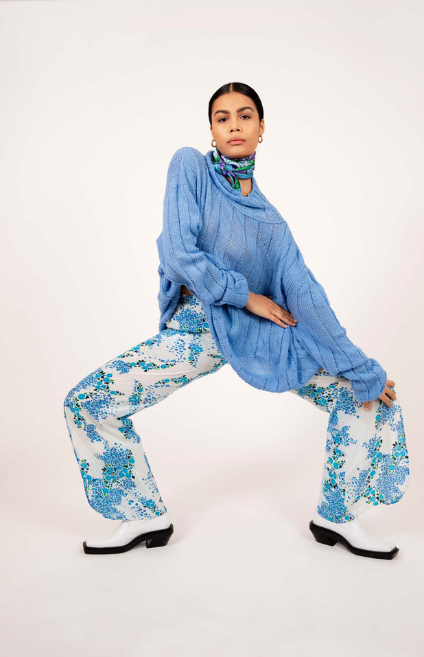 Load image into Gallery viewer, Lumban Pants - Mochi - Floral wide pants