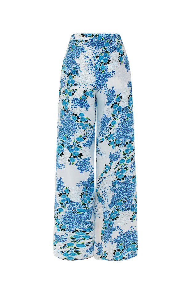Load image into Gallery viewer, Lumban Pants - Mochi - Floral wide pants (back)
