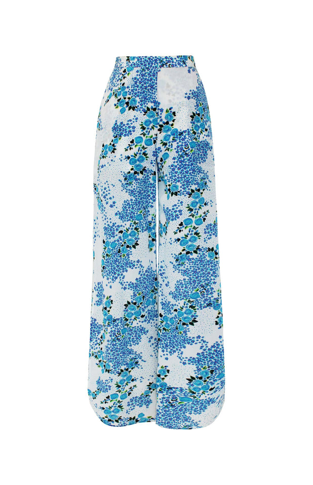 Load image into Gallery viewer, Lumban Pants - Mochi - Floral wide pants (front)