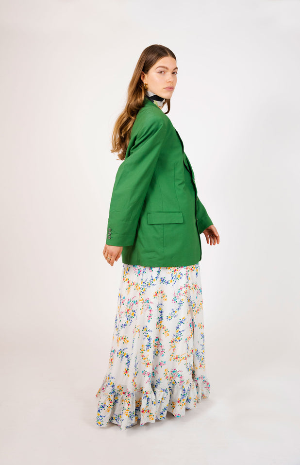 Load image into Gallery viewer, Nadia Skirt - Mochi - White Floral Maxi Skirt
