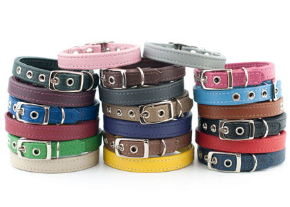 Leather dog collars by Petiquette Collars