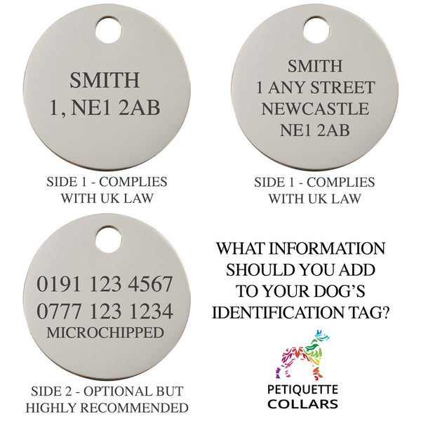 what details for pet id tag