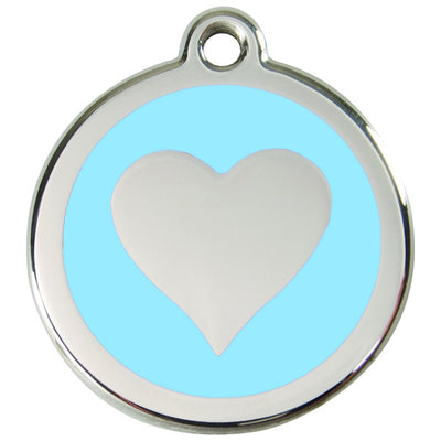 Red Dingo - Enamel Pet ID Tag - Heart