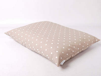 Dotty Taupe Cotton Top Day Bed by Charley Chau