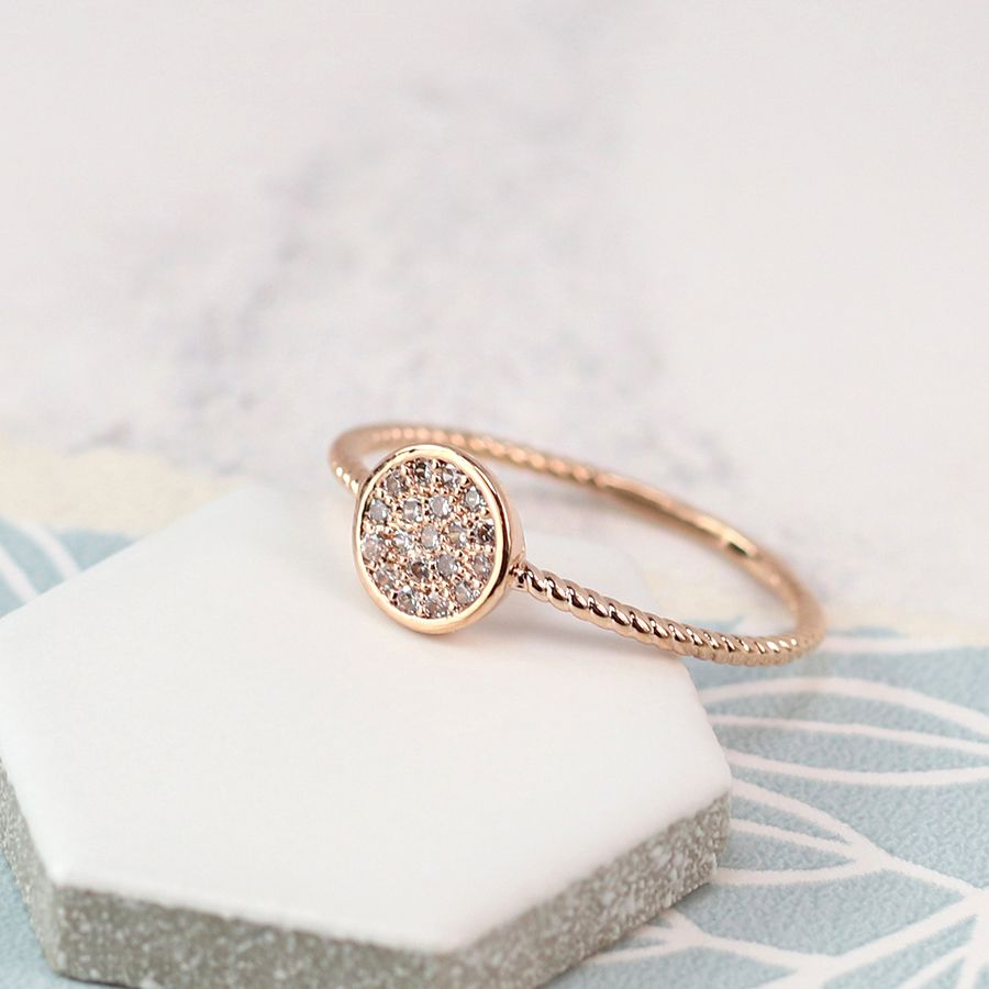 Ring - Rose Gold Plated with Crystal Detailing - 03050