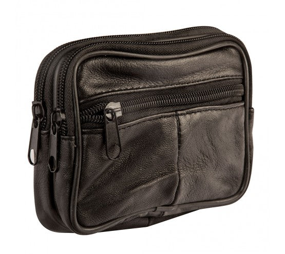 Sheep Nappa Leather Belt Pouch- Black only