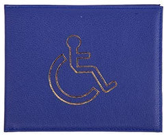 Leather Disabled Badge Permit Holder - Various Colours
