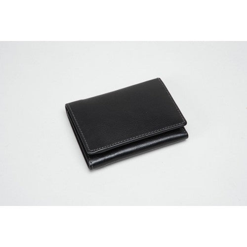Black Leather Wallet (RFID) - 611015CO