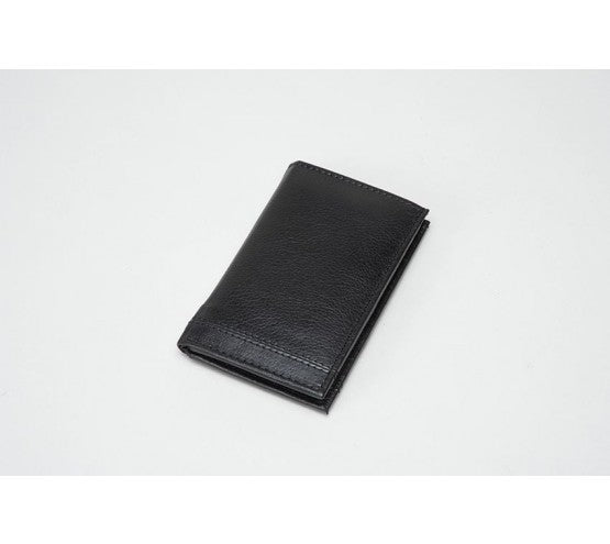 Leather Card Holder - BLACK (RFID)