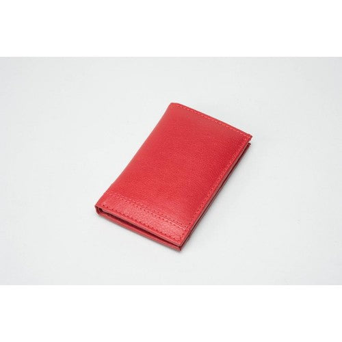 Leather Card Holder - RED (RFID)